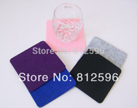 Wholesale New Fashion Laser Crafts Polyester Felt Glass Cup Drink Square Coaster Home Bar Decor Kitchen Accessories