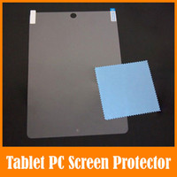 Wholesale High Clear Screen Protector Touch Protective Film Protection Foil For Ipad Air Mini Nexus II Galaxy TAB Note