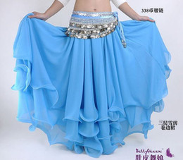 Wholesale belly dance costume wear belly dance tribal trilaminar skirt with Gold Edge Belly Dancer dress