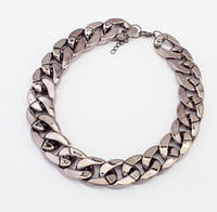 chunky jewelry - Fashion Chokers Alloy Chunky Twisted Link Chain Ladies Statement Choker Necklace Collar Charm Jewelry