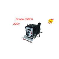 Cheap Free Shipping hot sale! Scotle 858D+ Desoldering machine Digital Thermostat soldering kit SMD Soldering Station 220V 700W
