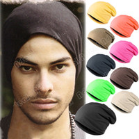 beanie hat - New Solid Color Unisex Hip hop Cap Beanie Hat Winter Slouch Colors One Size Elastic