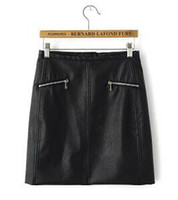 Cheap 9544- Europe and the United States women's wholesale 2014 autumn new product skirt pure Pu Heng zip pocket bag hip leather skirt