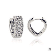 Wholesale CZ Stud Earrings Sterling Silver on Platinum Plated Full of Crystal AAA Quality Fashion Jewelry Supplier OE78