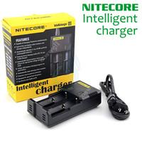 Wholesale Nitecore I2 Universal Charger Electronic Cigarettes mods Battery in Multi Function Intellicharger US UK EU AU PLUG