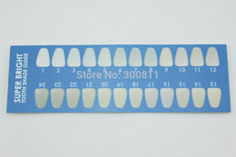 Wholesale High Quality Free faster Shipping Teeth Whitening Paper Shade Guide Shade Guide Special design for teeth whitening stocks
