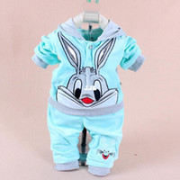 apparel for kids baby - New baby clothing set cartoon rabbit kid apparel boys girls children hoodies and pant Children s Clothing set for autumn