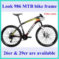 Wholesale 2014 Newest LOOK MTB carbon bike frame yellow matte full carbon bike frames er er montain bicycle frames colors