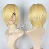 Cheap cosplay wig new COS wig anime game characters with short brown hair PL-3021-19cabelo humano