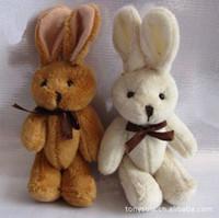 Livraison gratuite en gros en peluche conjointe 11CM mini lapin poupée peluche petit bouquet de lapin jouet cadeaux de fête 80pcs / lot