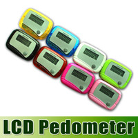 Wholesale DHL free New Pocket LCD Pedometer Mini Single Function Pedometer Step Counter LCD Run Step Pedometer Digital Walking Counter waitingyou