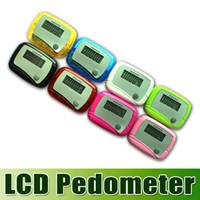 Wholesale DHL free New Pocket LCD Pedometer Mini Single Function Pedometer Step Counter LCD Run Step Pedometer Digital Walking Counter waitingyou