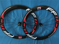 Wholesale MATE GLOSSY FINISH FFWD Fast Forward F6R C MM White Red Full Carbon Road Bike Wheelset