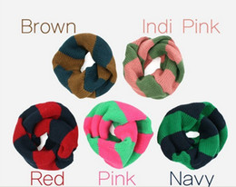 Wholesale 5 baby boys and girls Candy Winter Smile Knitting Woolen Baby Kids Infinity Scarf Circle Neck Collar Loop Shawl