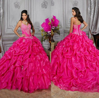 Wholesale 2014 Luxury Princess Spaghetti Crystal Top Ball Gown Quinceanera Dresses with Lace up Back Tiers Ruffles Sexy Quinceanera Prom Gowns