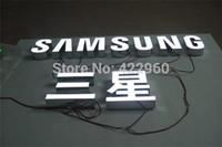 Wholesale Factory Outlet Outdoor Brightest resin inside stainless steel side back led illuminated sign for store