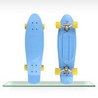 Wholesale 27 quot Nickel Penny Skateboard Complete Original mini Cruiser long skate Fish boards cheap longboard