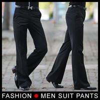 bell bottom dance pants - 2014 Men s Flared trousers Formal pants Bell Bottom Pant Dance suit pants Size Black