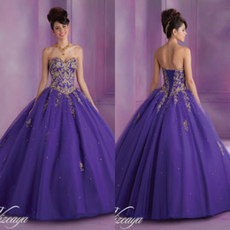 Wholesale 2014 Hot Red Golden Purple Sweetheart Sequin Beaded Ball Gown Floor Length Tulle Quinceanera Dresses with Short Sleeve Jacket Prom Gowns