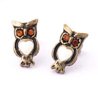 Wholesale Fashion Jewerly Vintage Owl Earrings Studs