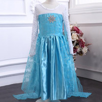 baby beach party - new Frozen elsa anna Children Christmas Baby Girl Princess long Sleeve party Birthday lace Tutu Sequins Dresses