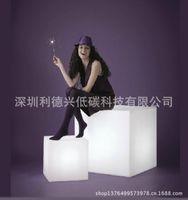 Wholesale LED bar furniture cm led emitting square stool led seat chair