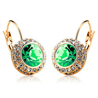 Wholesale Fashion Jewelry Accessories Fashion Shiny Full austrian rhinestone Crystal Earring for women