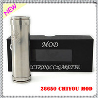 Cheap Rebuildable 26650 Chiyou Mod Stainless Steel Mech 26650 Mod Clone Chi You 510 Thread Fit Kayfun Lite Hades Tobh Atty Atomizer 5pcs lot