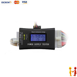 Wholesale Multifunctional Digital LCD PC Computer Power Supply Tester ATX BTX ITX TFX PIN SATA HDD Testers