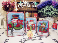 christmas container - Snowman Christmas men Storage pc Metal container tin case Iron box Christmas gift Box House decoration