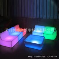 Wholesale led bar light Rotational luminous LED light emitting plastic furniture L shaped sofa emitting Furniture