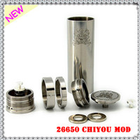Cheap Rebuildable 26650 Chiyou Mod Stainless Steel Mech 26650 Mod Clone Chi You 510 Thread Fit Kayfun Lite Hades Tobh Atty Atomizer Free Fedex