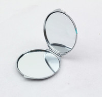 Wholesale Silver Blank Compact Mirror Round Metal Makeup Mirror Promotional Gift
