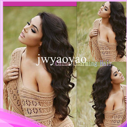 Wholesale Fabulous Body Wave Full Lace Wigs Front Lace Wigs With Baby Hair Virgin Peruvian Hair Human Hair Wavy Wig Density DHL