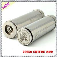 Cheap Rebuildable 26650 Chiyou Mod Stainless Steel Mech 26650 Mod Clone Chi You 510 Thread Fit Atty Stillare Kayfun Hades Tobh Atomizer Free Fedex