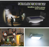 Wholesale Water proof Bright LED Wireless Solar Powered PIR Induction Motion Sensor Detector Outdoor Garden Path Post Light