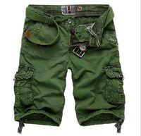 Wholesale men s casual loose cargo shorts men large size multi pocket