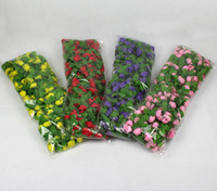 Wholesale 5pcs ft Artificial Rose Garland Silk Flower Vine Ivy Home Wedding Garden Decoration