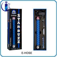 Black SS 379mm Starbuzz Shisha Disposable E Hookah Hookah Pen E Hose Huge Starbuzz E-Hookah
