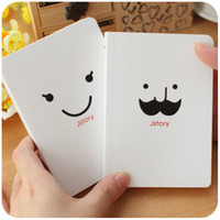 Wholesale Korean Stationery Kawaii Jstory Beard Smiling Face Notebook Two Type Memos Book English Word Book Notepad Student Use School Supplies