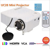 Wholesale UC28 portable pico led mini HDMI video game projector digital pocket home cinema projetor proyector for quot cinema