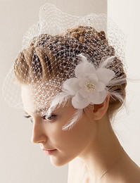 Wholesale Bridal Headdress Wedding Hat Flower Headdress Bridal Hair Accessories Blending Small Available Veil Hat