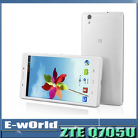 Android Quad Core 1GB Original ZTE Q705U Quad Core MTK6582 1.3GHz smartphone Android 4.2 5.7 inch 1GB Ram 4GB 5.0MP Camera GPS WCDMA ZTE Q705U