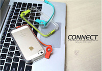 Wholesale Cell Phone Case With USB Charging Cable Lightning Flash LED Transparent Back Cover No Battery Required For iphone4s s With Package NO6