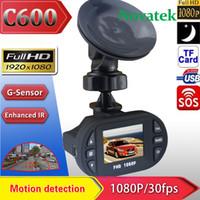 Wholesale C600 P Full HD Car DVR Camera Degree IR LEDs Light Mini quot LCD TFT screen Video Recorder G sensor Night Version Camcorder