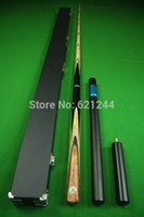 Wholesale 8mm Small Tip Jointed Grey Ebony Handmade Ash Shaft Snooker Pool Cue with Free Case Extension Mini Butt