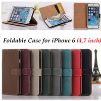 abrasive grains - Retro Foldable Phone Cases for Inch iPhone6 iPhone SE Stand Leather Wallet Case Abrasive Grain with Card Slot iPhone Cover