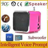 Wholesale New arrival Fashion Stereo Mini Speaker USB TF Card MP3 Music Portable Speakers FM Radio Digital Speaker SV001051