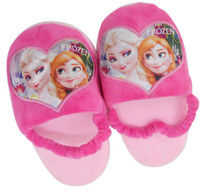 Wholesale New retail Baby girls Frozen Slippers Snow Queen Elsa Anna Plush Stuffed shoes kids princess Home Shoes cm styles