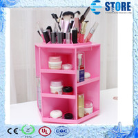 Wholesale 2014 Newest Makeup Cosmetic Storage Box Bag Rotation Container Colors wu